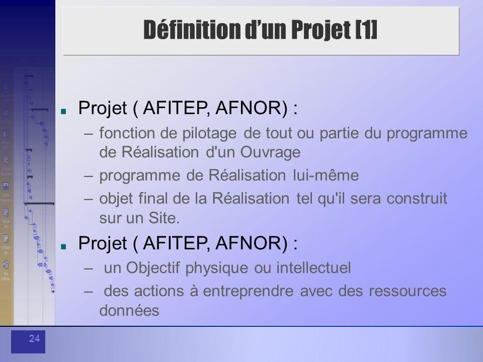 Définition d'un Projet [1]